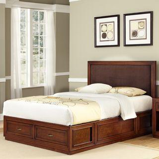 Home Styles Brown Queen Platform Bed