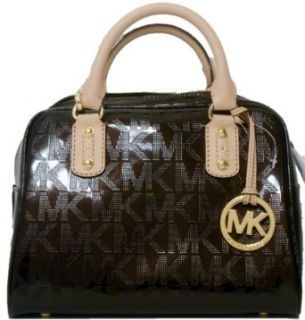 Michael Kors Mirror Brown Metallic Signature Small Satchel