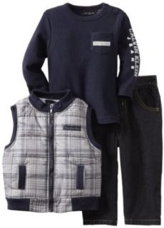 Calvin Klein Boys 2 7 Printed Puffy Vest Set, Assorted, 3T