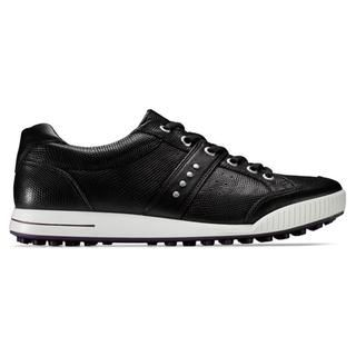 Ecco Mens Black Street Premier Golf Shoes