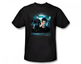 Stargate Atlantis   John Sheppard Adult T Shirt In Black