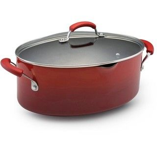 Rachael Ray II Porcelain Enamel Nonstick 8 quart Covered Oval Pasta