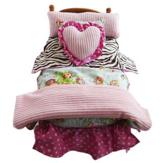 AnnLoren Coco Zebra and Floral Bedding Set 7 pc for American Girl Doll
