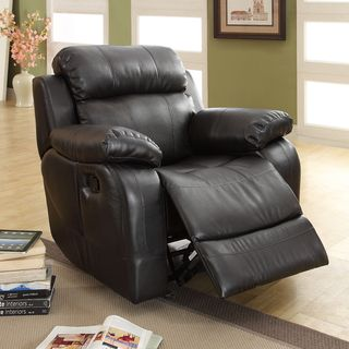 Eland Black Rocker Recliner Chair