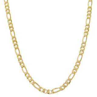 Gold filled Figaro Link Chain Necklace (18 36 inch)