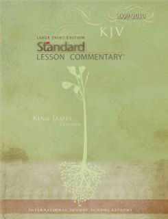 Standard Lesson Commentary 2009 2010 (Large Print,Paperback