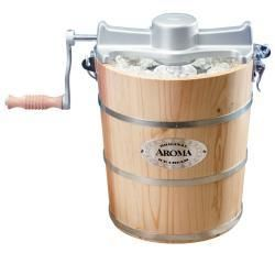 Aroma 6 quart Natural Wood Barrel Ice Cream Maker