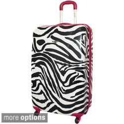 Rockland Zebra 24 inch Lightweight Hardside Spinner Upright Luggage