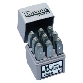 Hanson Standard Steel Number Stamp Set (3/8 inch) Compare: $27.08