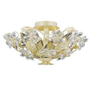 Paris Flea 6 light Gold Leaf Flush Mount