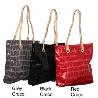 Valencia Croco Faux Leather Tote Bag