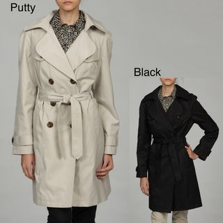 London Fog Womens Belted Double breasted Trench Coat