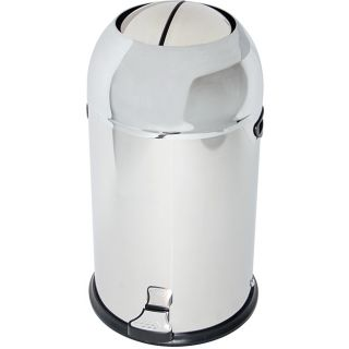 Chrome Bullet style 22 liter Trash Can