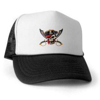 Artsmith, Inc. Trucker Hat (Baseball Cap) Pirate Skull