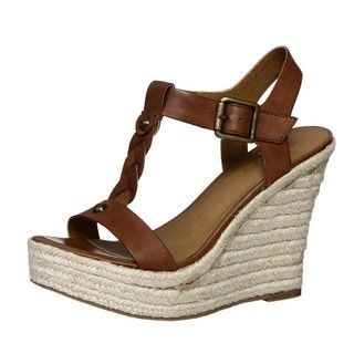 Zodiac USA Womens Quana Tan T strap Wedges
