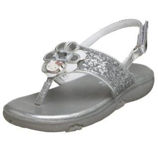 Hello Kitty Toddler 9T347 Sandal,Silver,6 M US Toddler Shoes