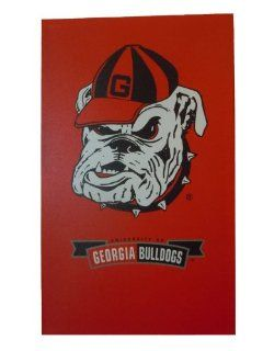 NCAA Georgia Bulldogs Mascot Canvas Art: Sports & Outdoors