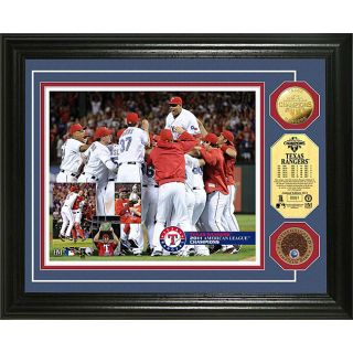 Highland Mint Texas Rangers 2011 AL Champs Infield Dirt and Coin Photo