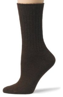 HUE Womens Ribbed Boot Socks, Espresso Clothing