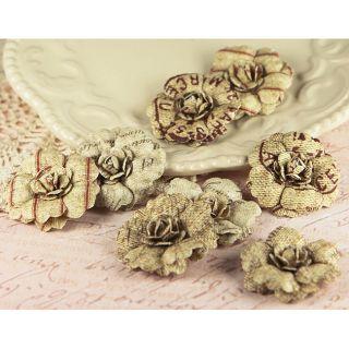 Parchment Petals Vintage Paper Flowers (Pack of 10)