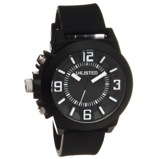 Unlisted by Kenneth Cole Mens Rubber Strap Analog Watch