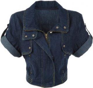 Zumba Womens Jean Jacket, Blue Denim, X Small Clothing