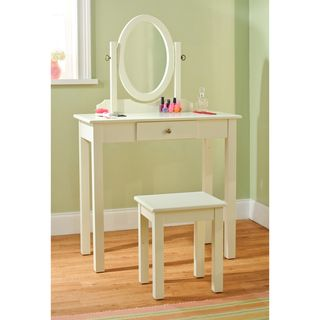 Vanity Table with Mirror and Stool 3 piece Set
