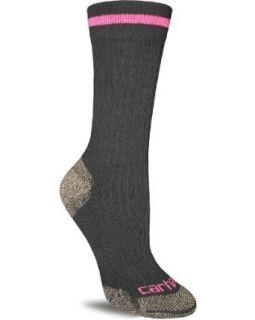 Carhartt Womens Steel Toe Crew Socks, Black, Medium