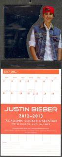 Justin Bieber 2012 2013 Academic Locker Calendar