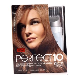 Clairol Nicen Easy Perfect 10 #7.5A Medium Ash Blonde Hair Color