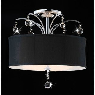 Laguna Chrome and Crystal Flush mount Chandelier