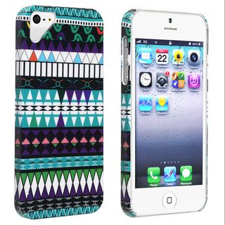 BasAcc Blue Tribe Pattern Snap on Case for Apple iPhone 5