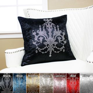Chandeliers Rhinestone Stud Velvet Pillow 19 x 19 (Set of 2