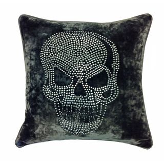 JAR Designs Large Skull Grey Throw Pillow