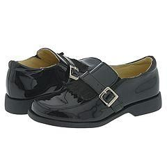 Venettini Kids R Valeria (Toddler/Youth) Black Patent Loafers
