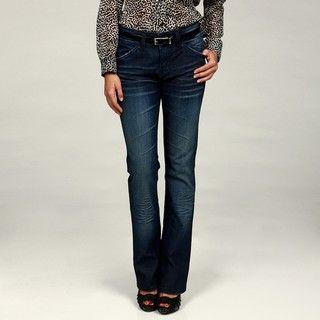 Miss Vigoss Womens Dark Wash Bootcut Trouser Jeans