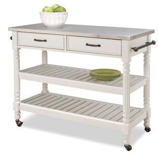 Home Styles Savannah White Kitchen Cart