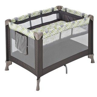 Evenflo BabySuite Classic Playard with Bassinet in Mesa Green