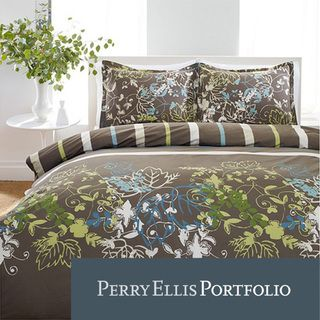 Perry Ellis Sweet Bay 3 piece Mini Duvet Cover Set