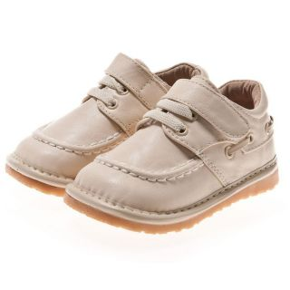 Little Blue Lamb Toddler/ Infant Cream Leather Squeaky Shoes Today $