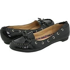 Sperry Top Sider Sandpiper Black Patent Flats