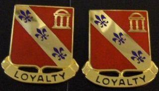 Distinctive Unit Insignia 319th FA   Pair Clothing