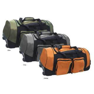 Olympia 30 inch Jacquard Fabric Rolling Duffel Bag