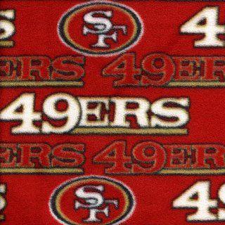NFL San Francisco 49ers Polar Fleece Fabric  Per Yard