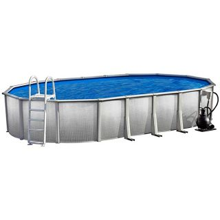 Discovery Above Ground 12 foot x 24  foot Oval Swimming Pool Package