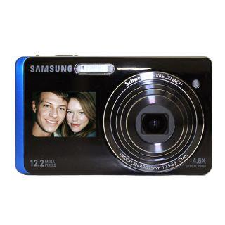 Samsung DualView TL220 12.2MP Blue Digital Camera (Refurbished