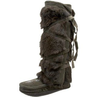 Manitobah Mukluks Womens Tall Wrap Boot,Olive,5 M US Shoes