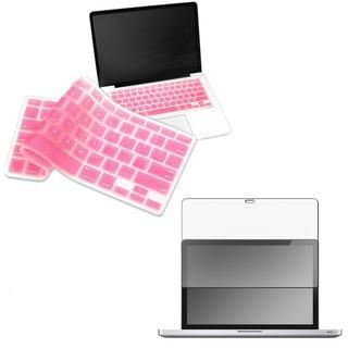 Screen Protector/ Pink Keyboard Cover for Apple MacBook Pro 13 inch