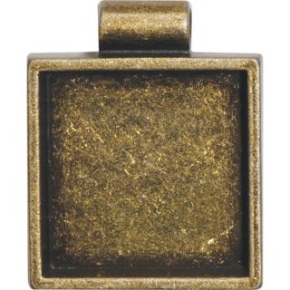 Lisa Pavelka Antique Gold Square Bezel