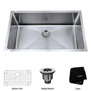 Kraus 30 inch Undermount Single Bowl Stainless Steel Kitchen Sink